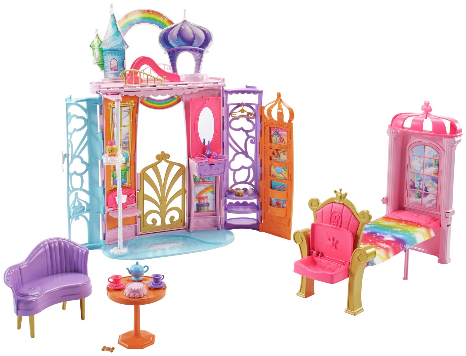 Barbie Portable Rainbow Cove Castle