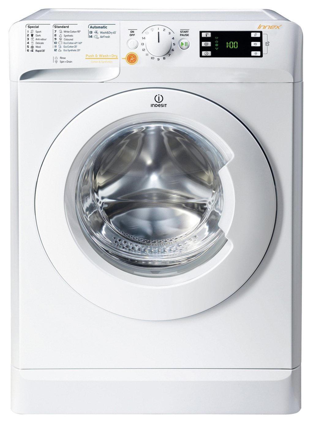 Indesit XWDE1071681X 10/7 KG Washer Dryer - White