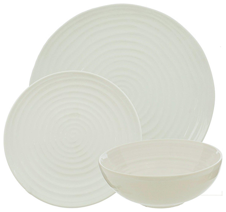 Sainsbury's Home Ripple 12 Piece Dinner Set - White