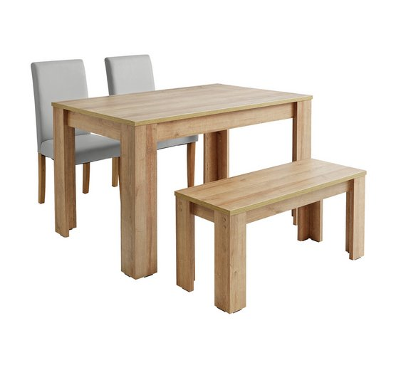 Buy Argos Home Miami 120cm Dining Table Bench Chairs Dining