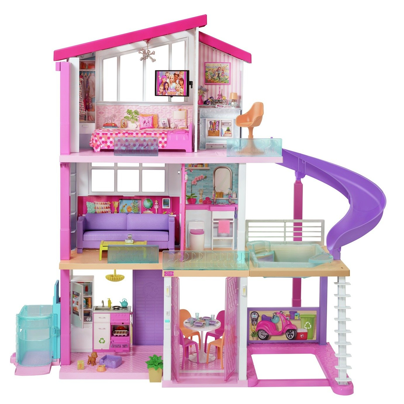 Barbie Dreamhouse Dollhouse with Pool, Slide and Elevator