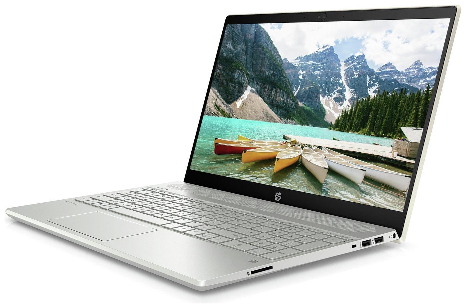 HP Pavilion 15.6 In Ryzen 3 8GB 128GB Full HD Laptop - Gold