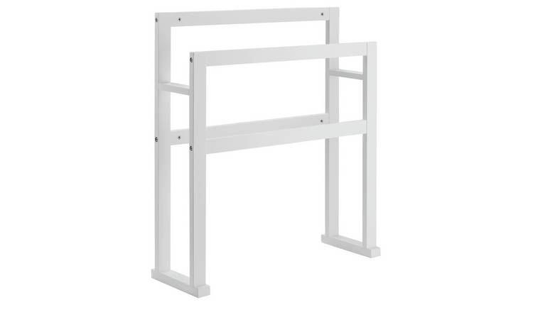 Argos Home 4 Rail Wooden Freestanding Towel Stand - White