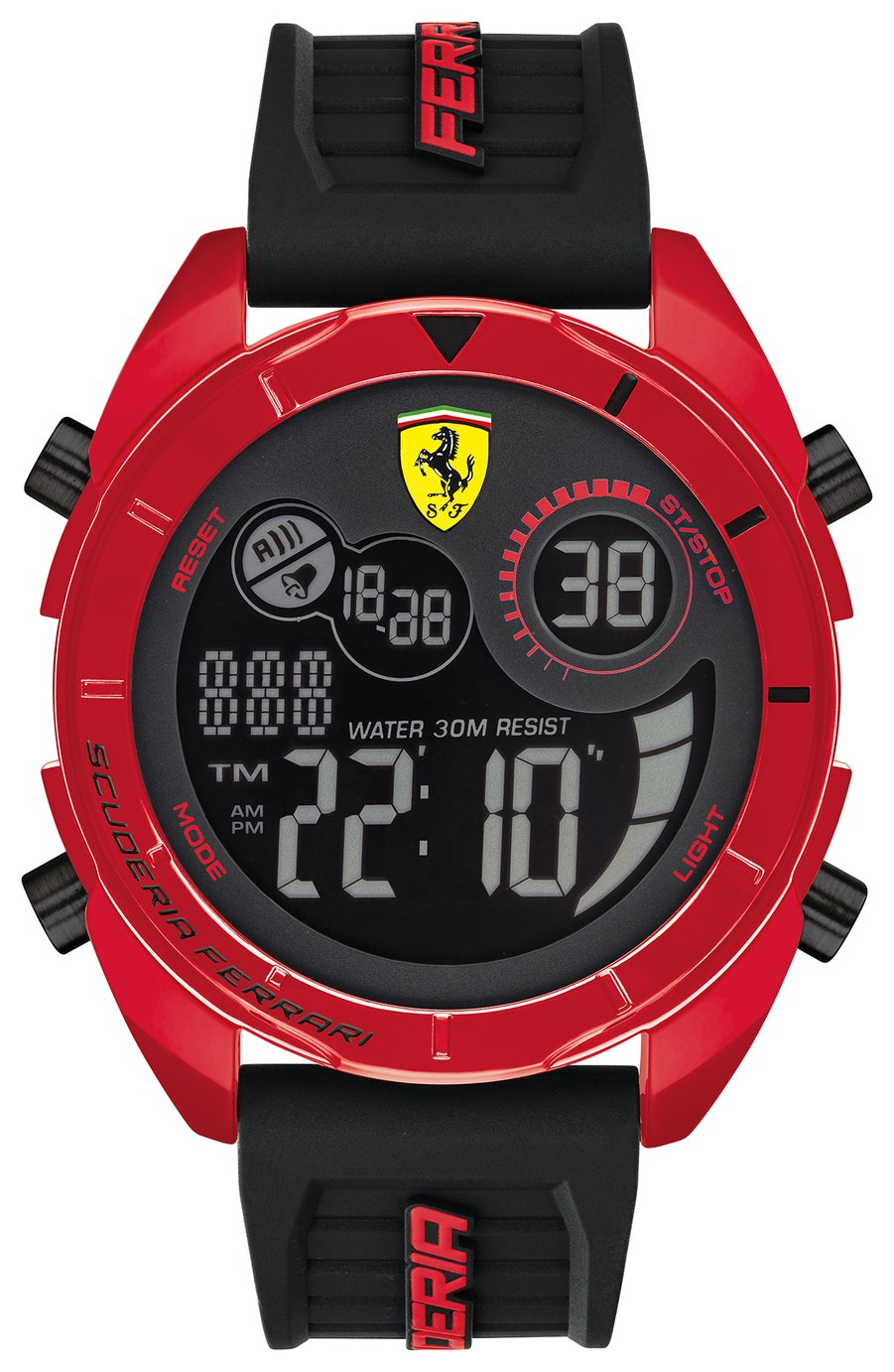 Scuderia Ferrari SFO Men's Black Strap Digital Watch