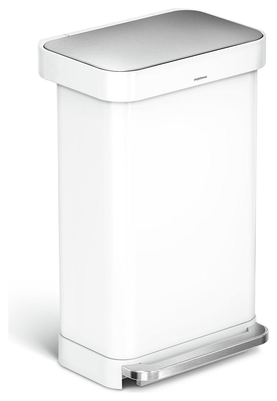 simplehuman 45 Litre Liner Pocket Kitchen Bin - White