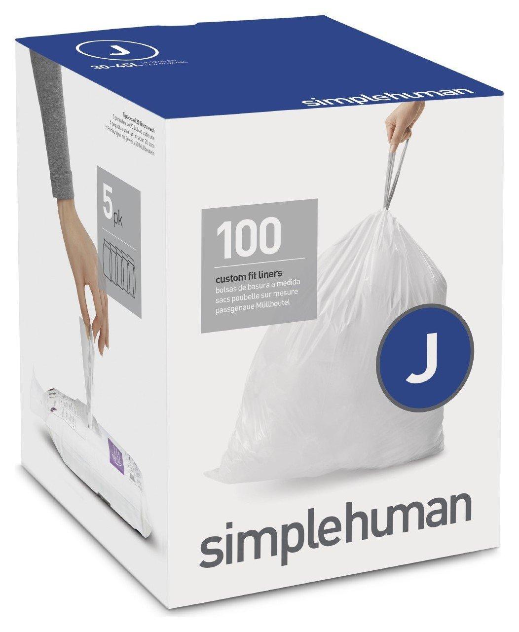 simplehuman Bin Liner Code J x 100 Liners
