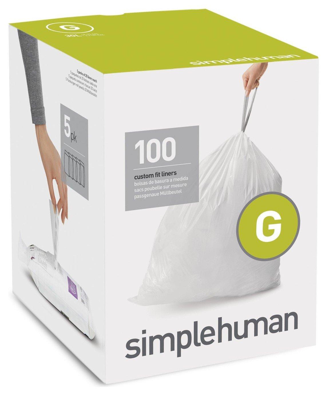 simplehuman Bin Liners Code G x 100 Liners