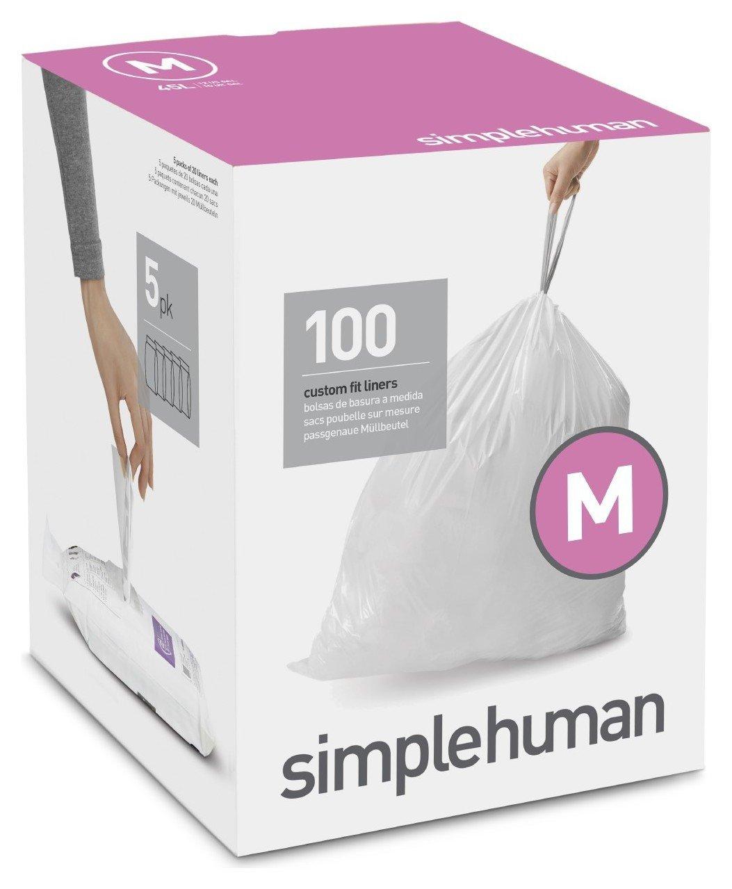 simplehuman Bin Liner Code M x 100 Liners