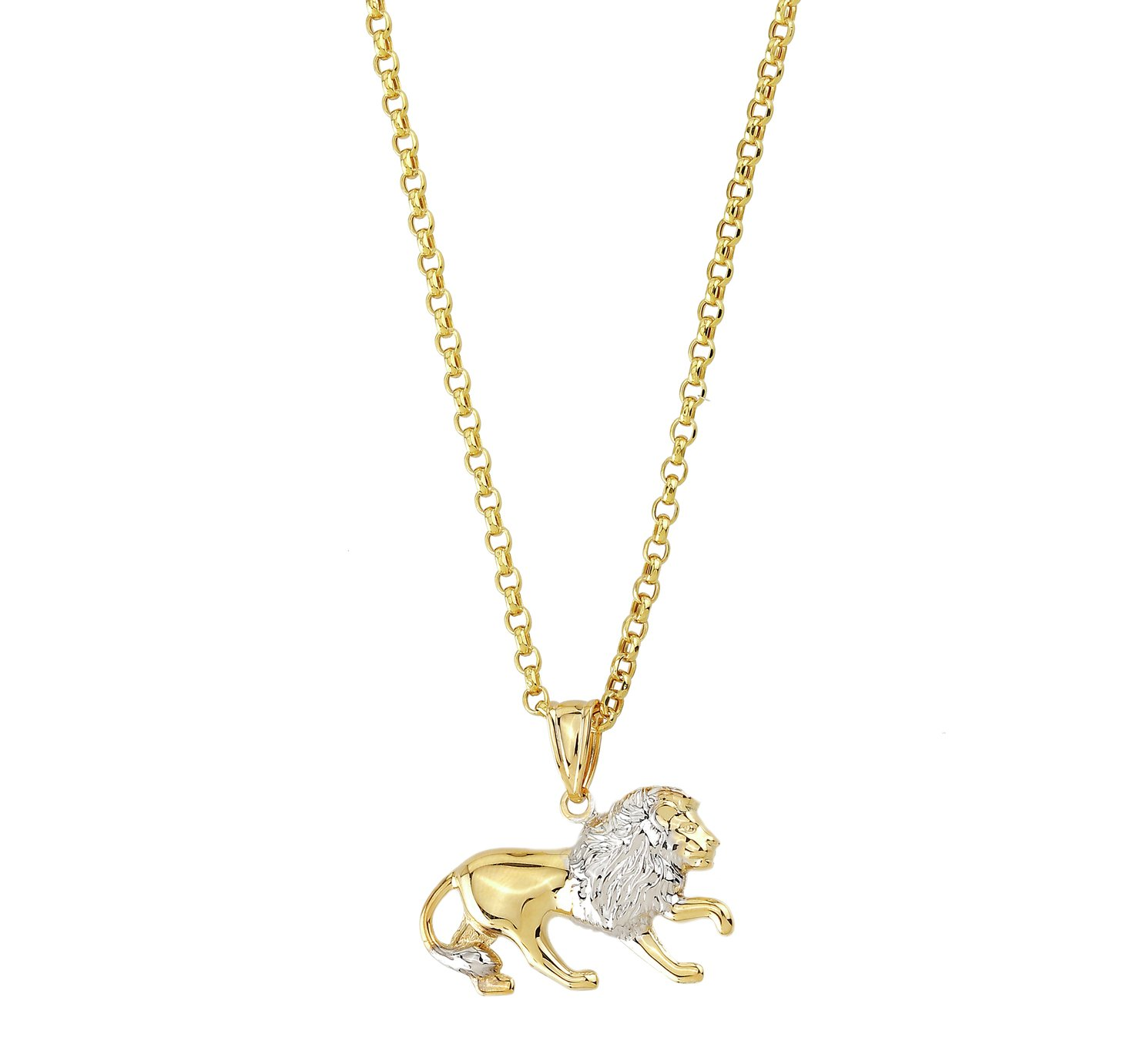9ct Gold Two Tone Lion Pendant review