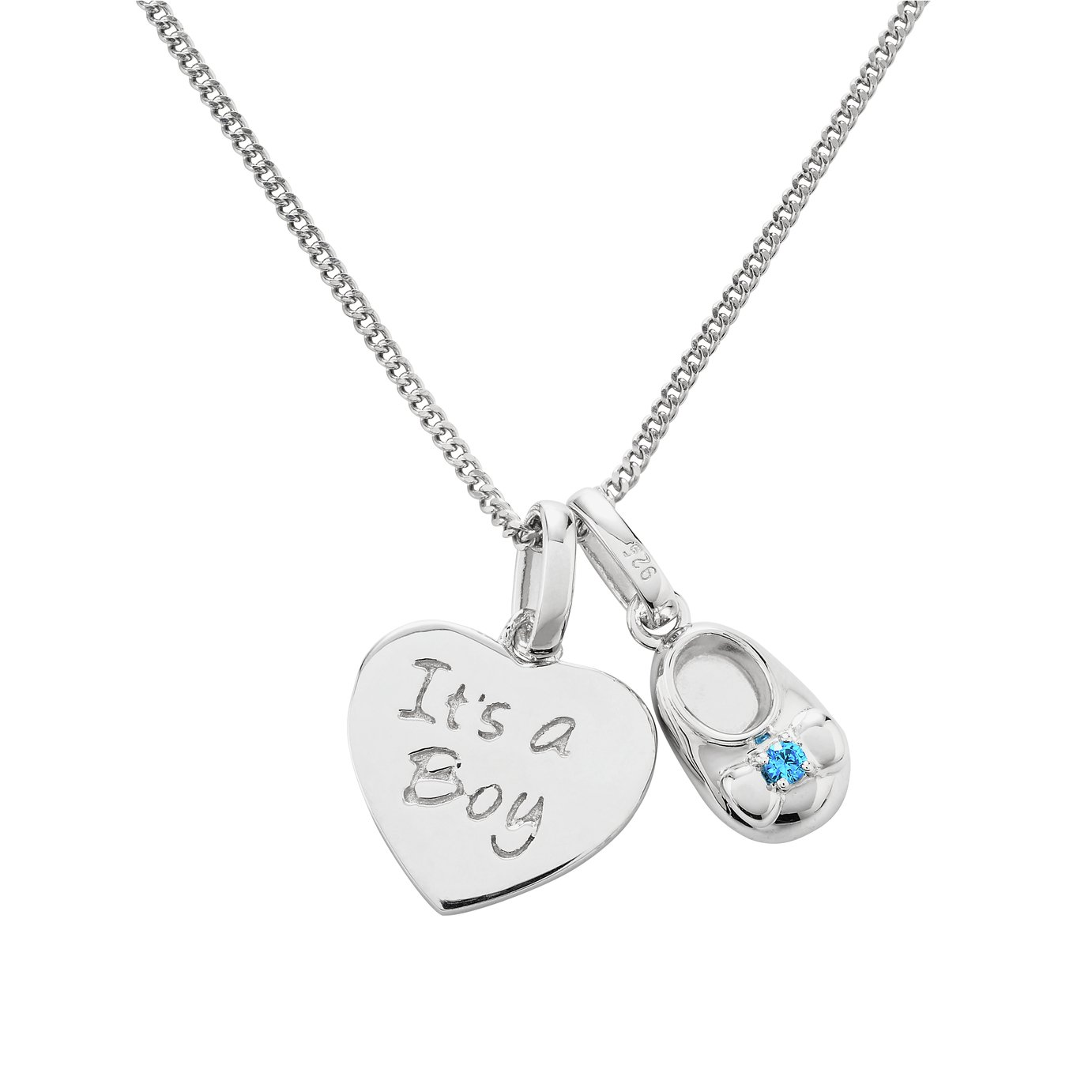 Moon & Back Sterling Silver Cubic Zirconia Baby Boy Pendant review