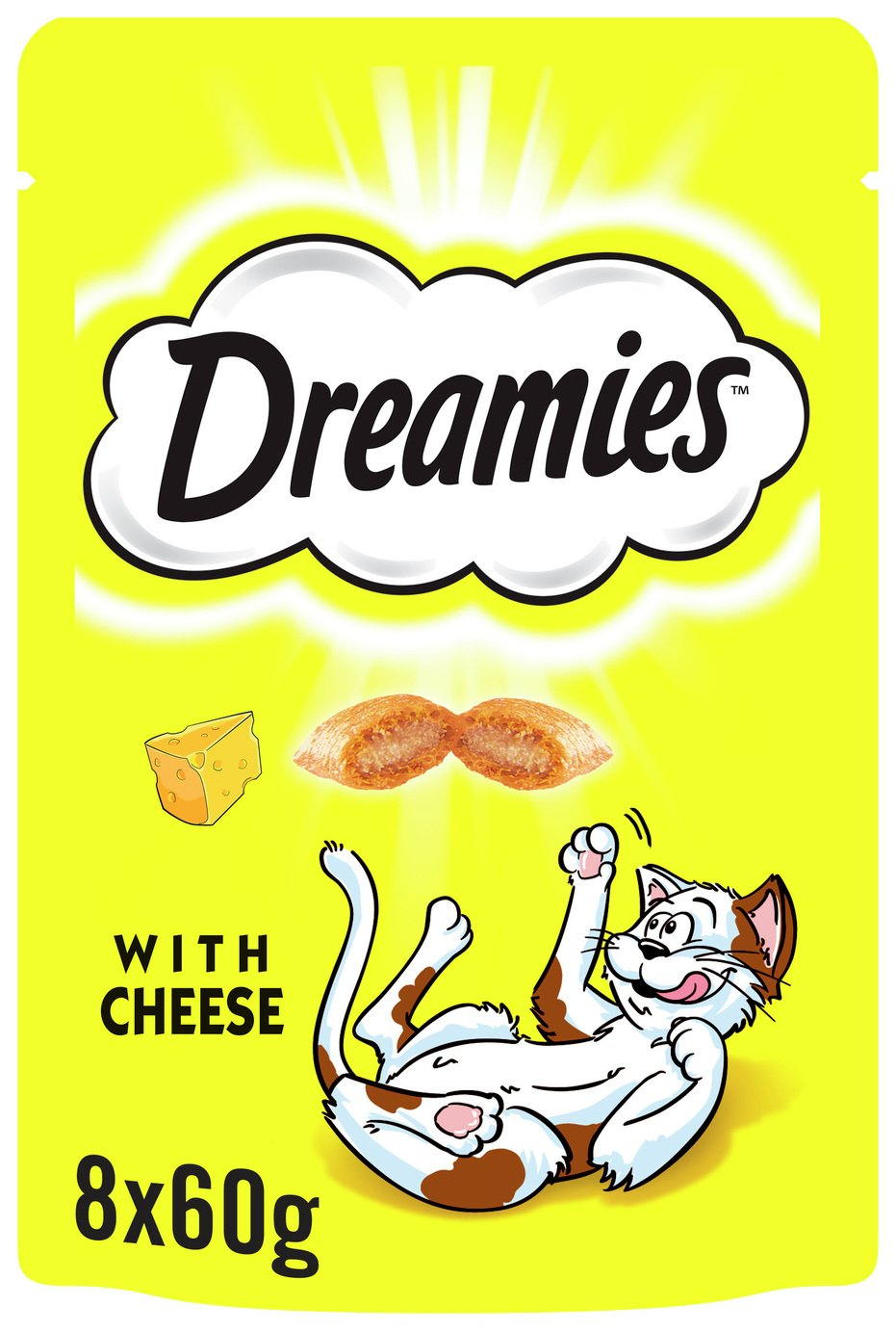 Image of Dreamies Cat Treats with Cheese - 8 x 60g