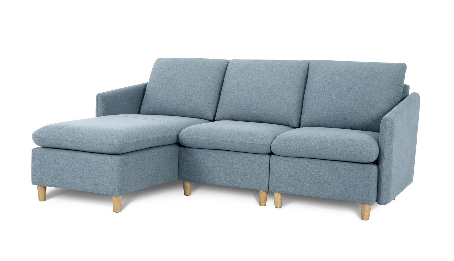 Habitat Mod Reversible Corner Fabric Sofa - Blue