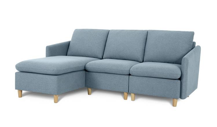 Habitat Mod Reversible Corner Fabric Sofa - Blue