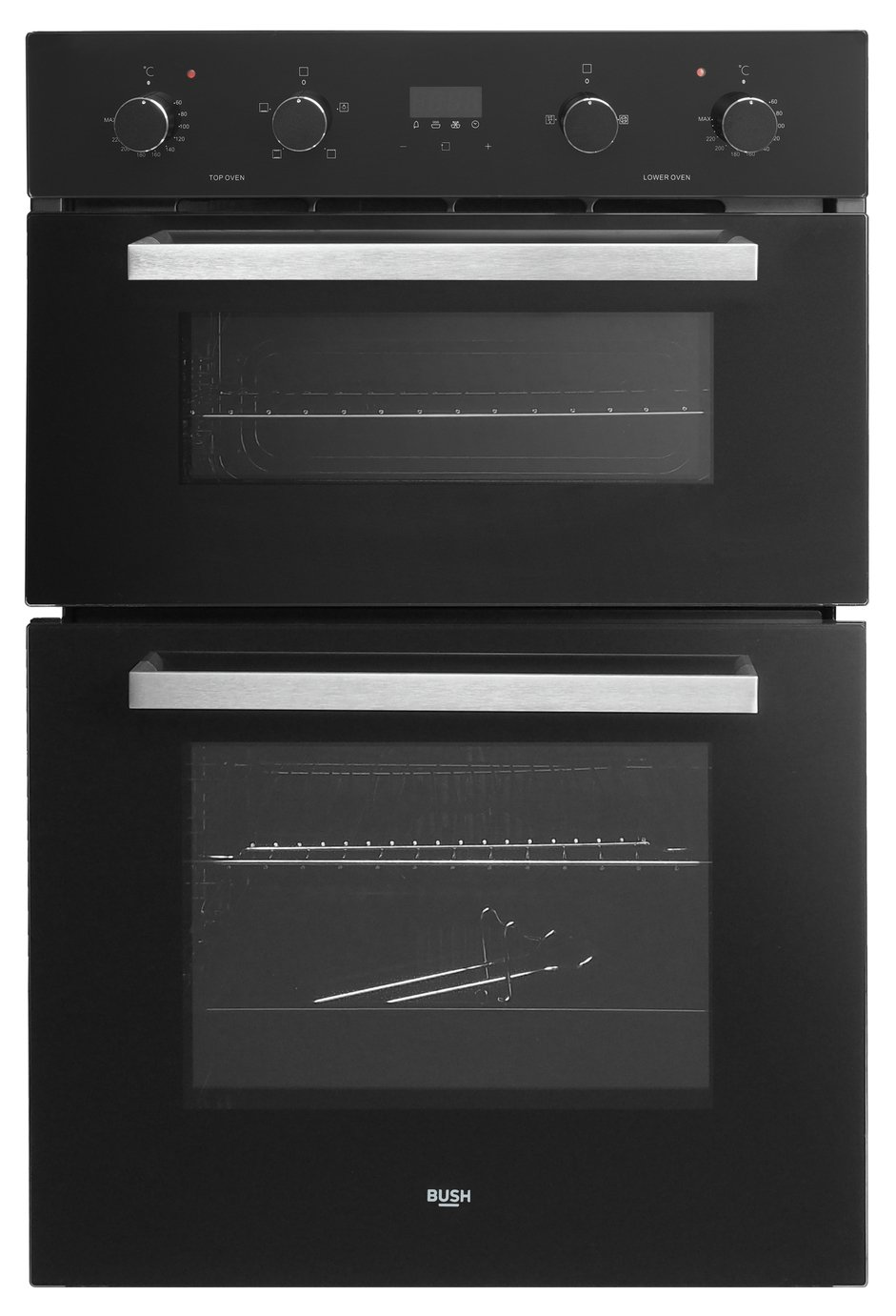 Bush AWBBDFO Built In Double Electric Oven - Black