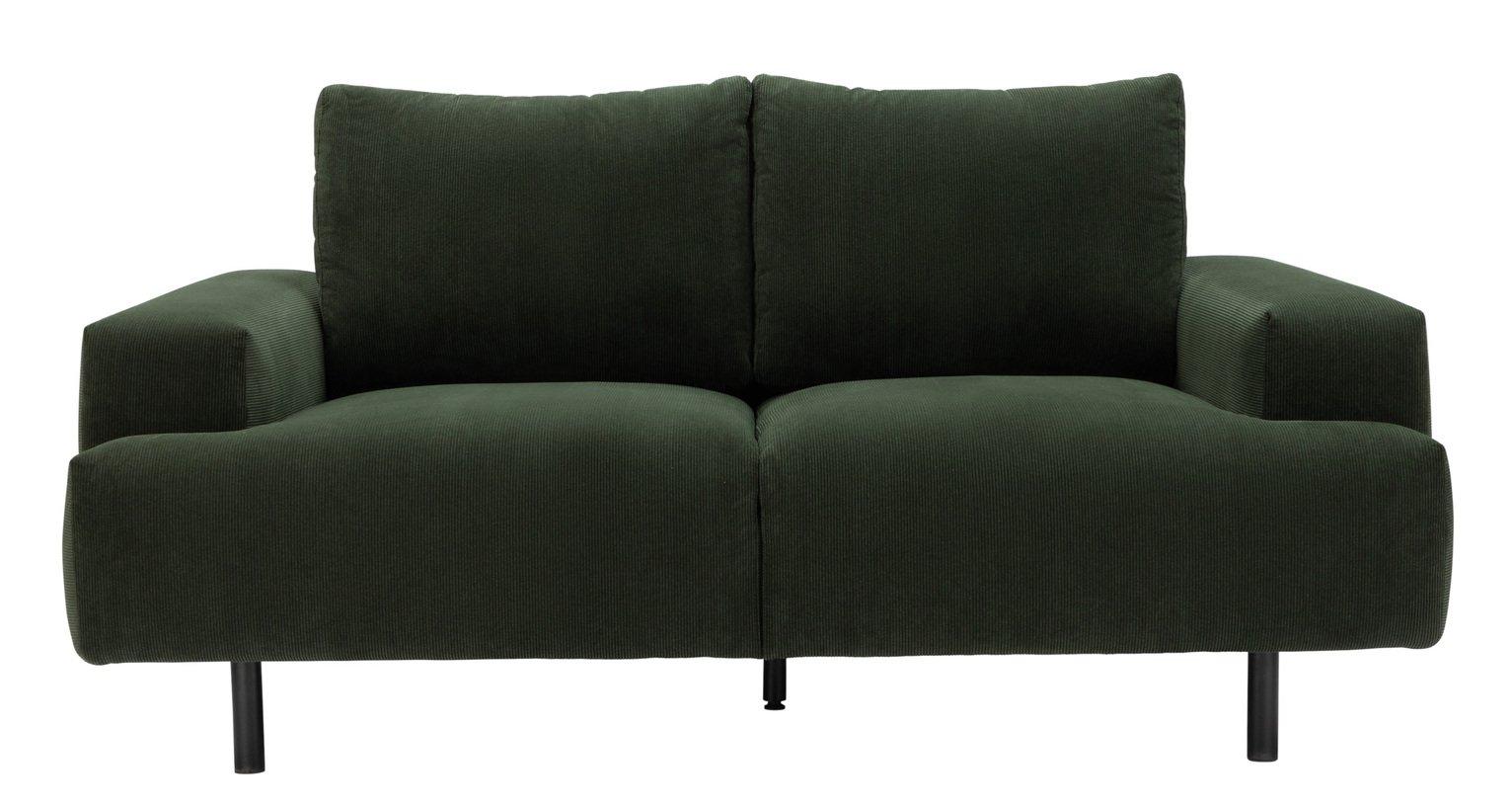 Habitat Julien 2 Seater Fabic Sofa - Dark Green