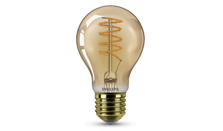Philips LED 25W A60 E27 ES Classic Light Bulb - Gold