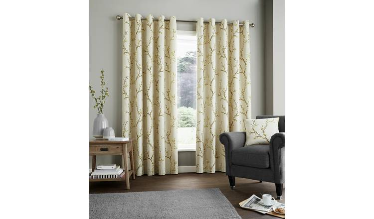 Fusion Hemsworth Lined Curtains - 168x229cm - Ochre.