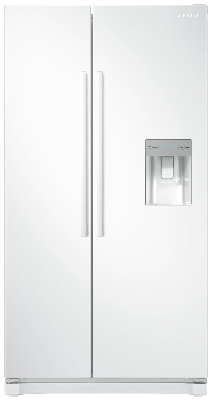 Samsung RS52N3313WW/EU American Fridge Freezer - White