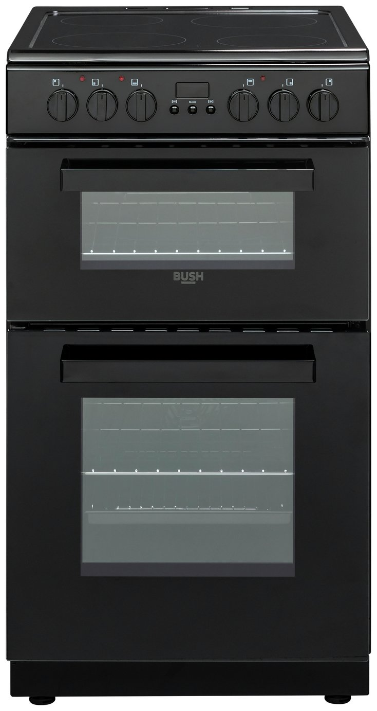 Bush Dhbedc50b Double Electric Cooker Black 8544403 Argos Oven And Hob