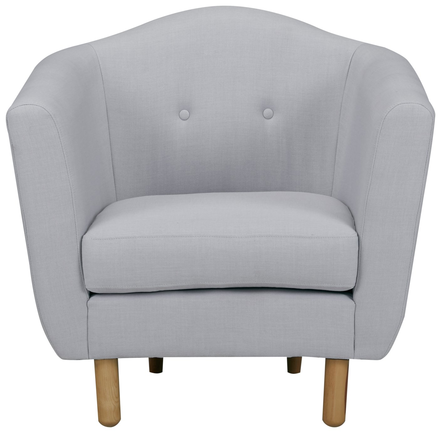 Argos Home Elin Fabric Armchair - Light Grey