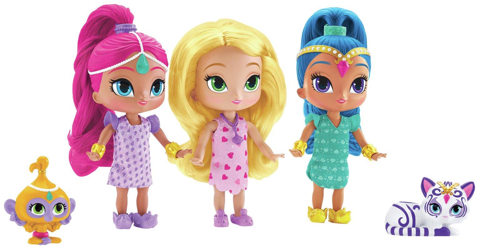 Shimmer and Shine Sleepover Triple Doll Set