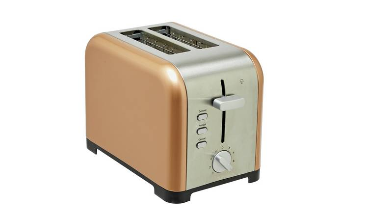 Cookworks Metal Bullet 2 Slice Toaster - Copper