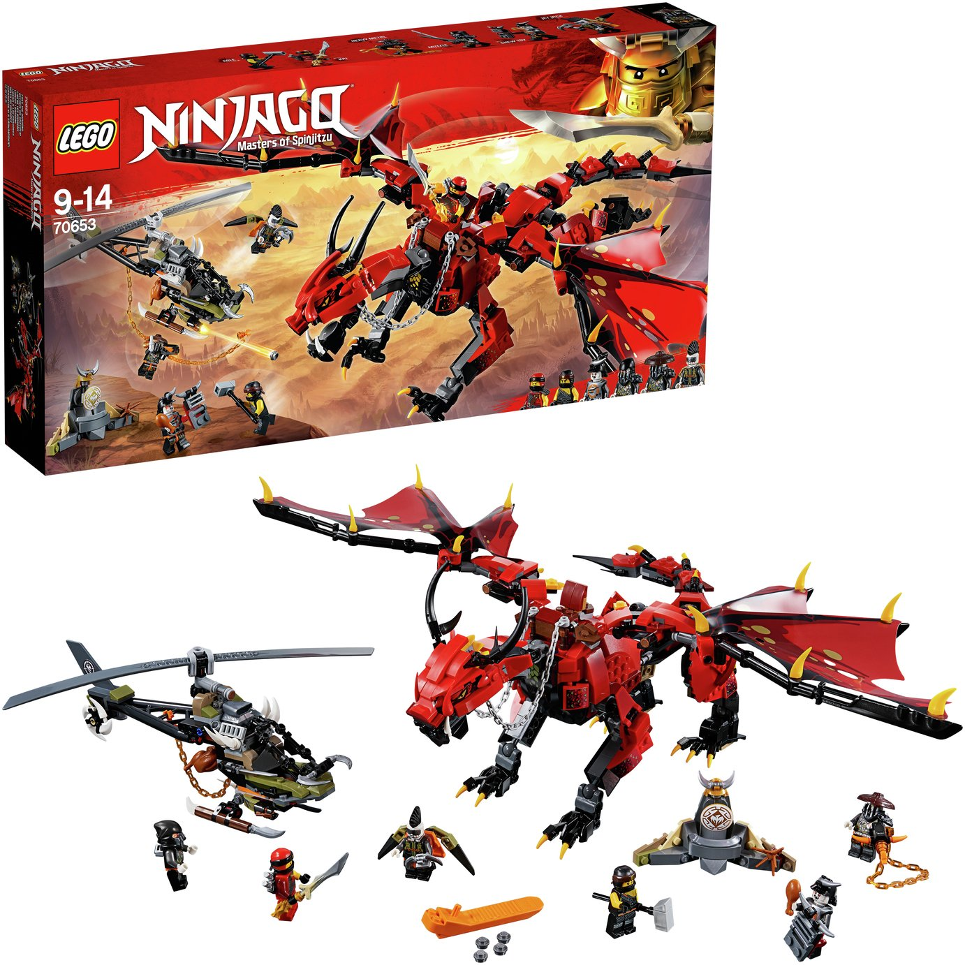LEGO Ninjago Firstbourne Dragon Toy & Helicopter Set - 70653