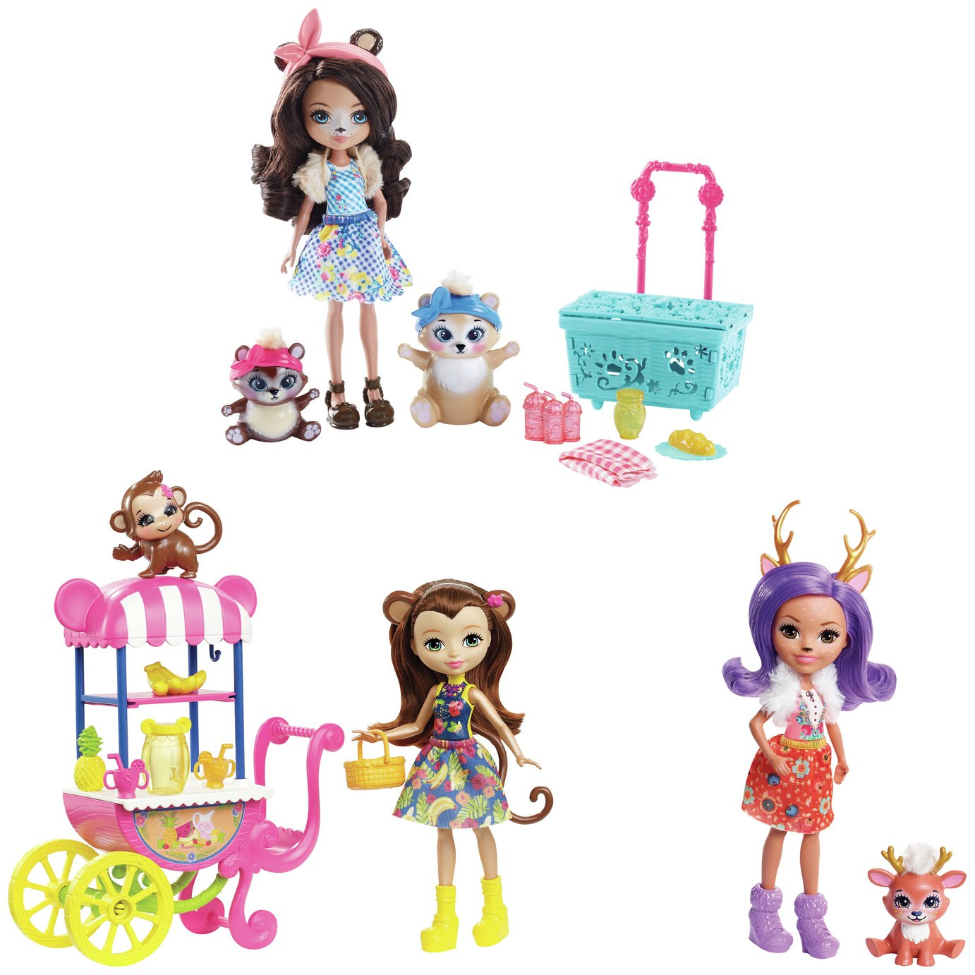 Enchantimals Picnic in the park doll 3-pack & Playset