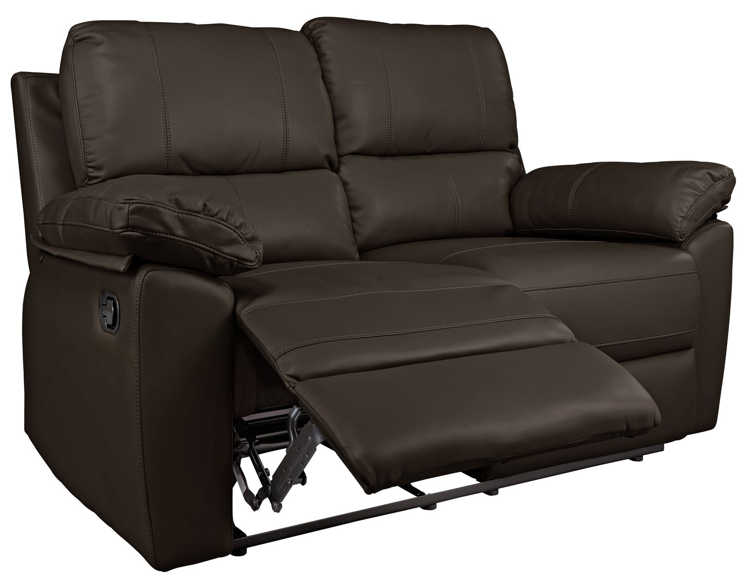 buy argos home toby 2 seat faux leather recliner sofa chocolate rh argos co uk leather reclining sofas made in usa leather reclining sofas near me