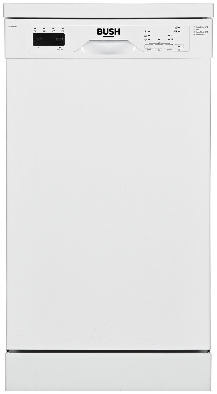 Bush BFSLNB9W Slimline Dishwasher - White