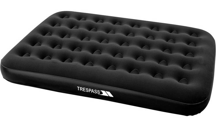 Trespass Double Flocked Air Bed with Mains Pump