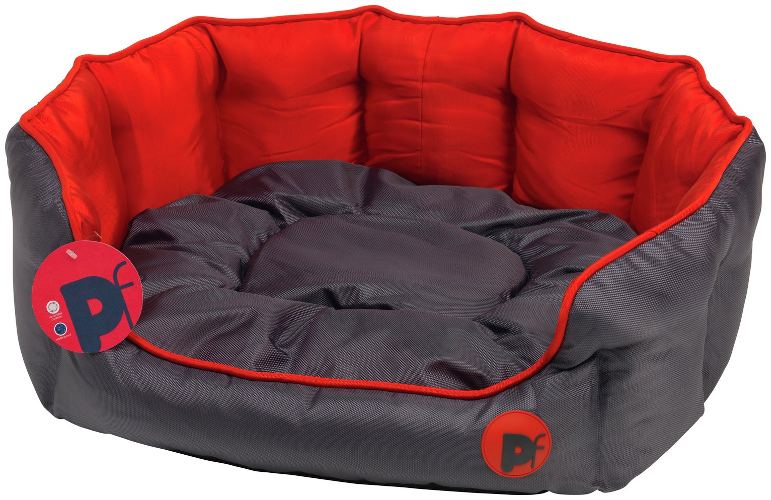 Oxford Oval Red Dog Bed - Large