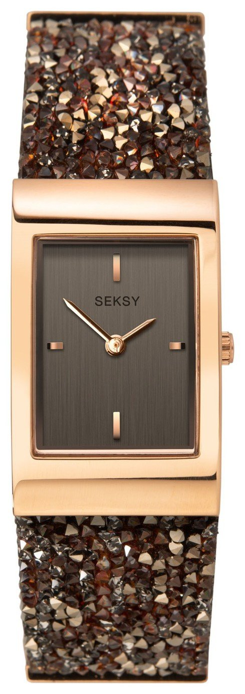 Seksy Rocks Ladies' Swarovski Crystal Set Strap Watch