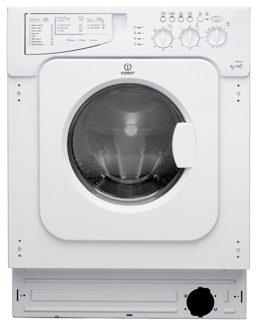Indesit IWDE126 6KG 5KG Washer Dryer - White