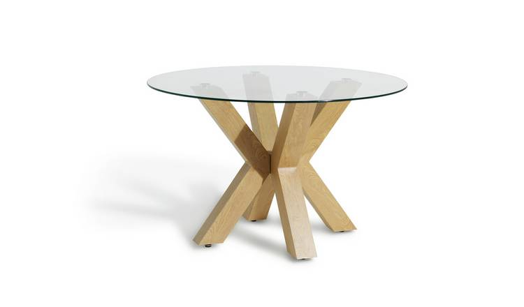 05b1e96608 Buy Argos Home New Alden Round Dining Table - Glass | Dining ...