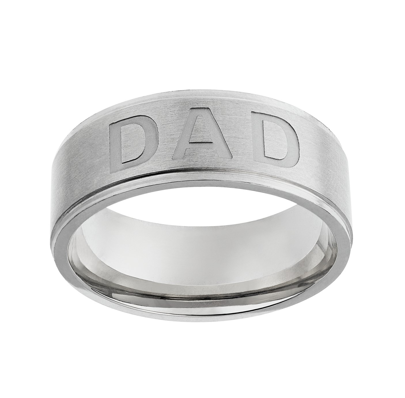 Revere Men's Stainless Steel Dad Ring
