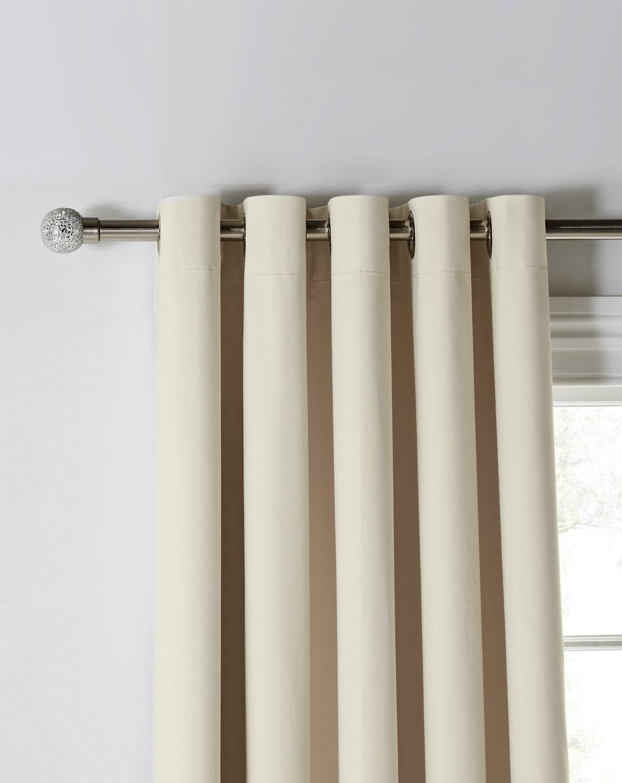 Argos Home Blackout Eyelet Curtains - Cream