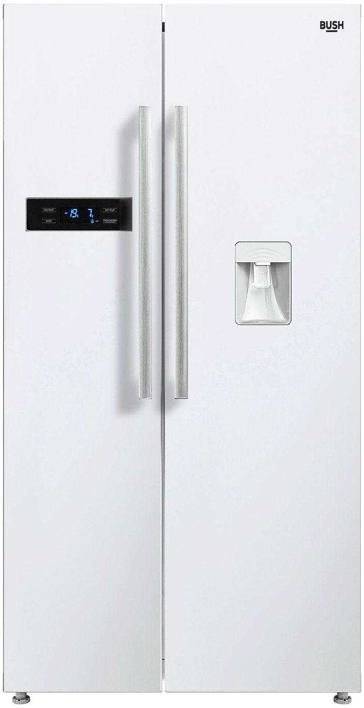 Bush MSBSNFWTDW American Fridge Freezer - White Best Price, Cheapest Prices