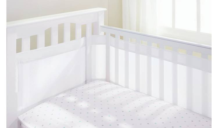 BreathableBaby 4 Sided Airflow Cot Liner - White
