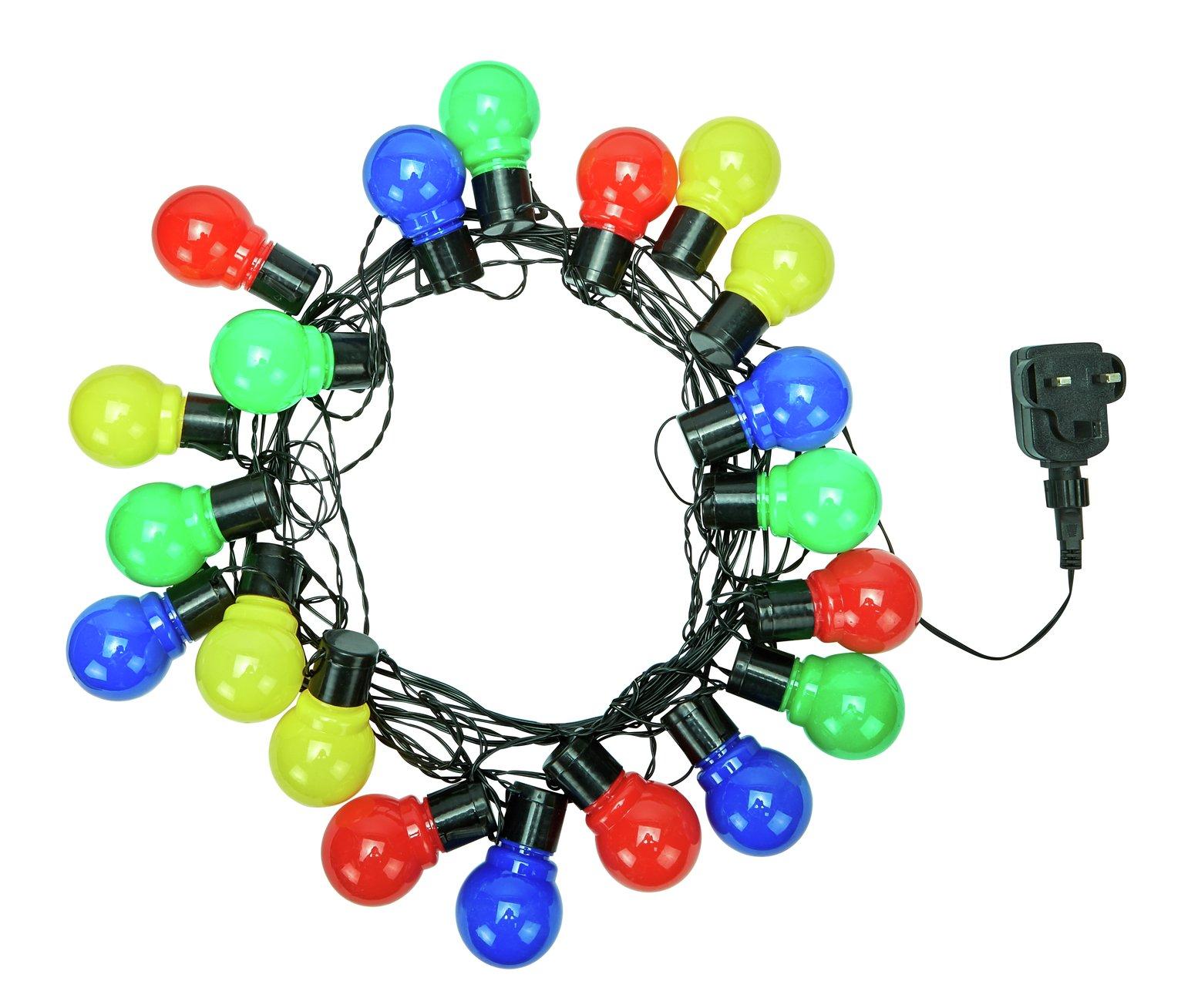 Outdoor Solar Lights Wilko: Wilko Emerald Jewel Christmas LED Lights Multi Coloured X
