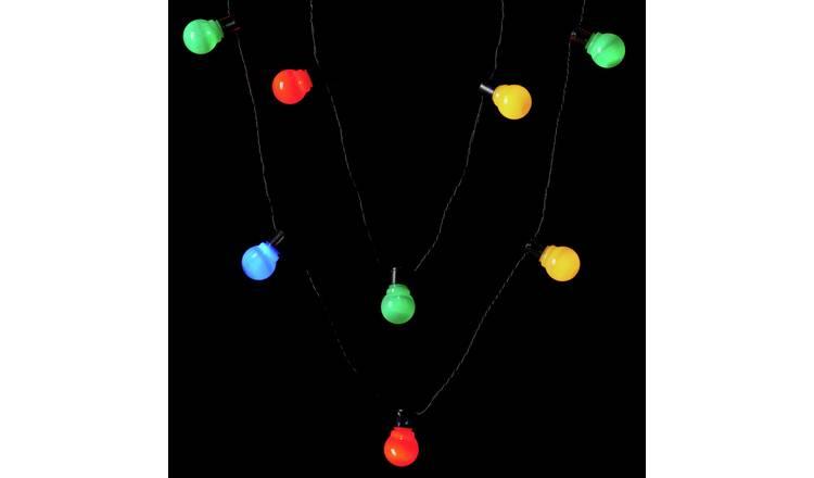 new style 9efca afecf Buy Argos Home 20 Multicoloured LED Festoon String Lights - 10m | Christmas  lights | Argos
