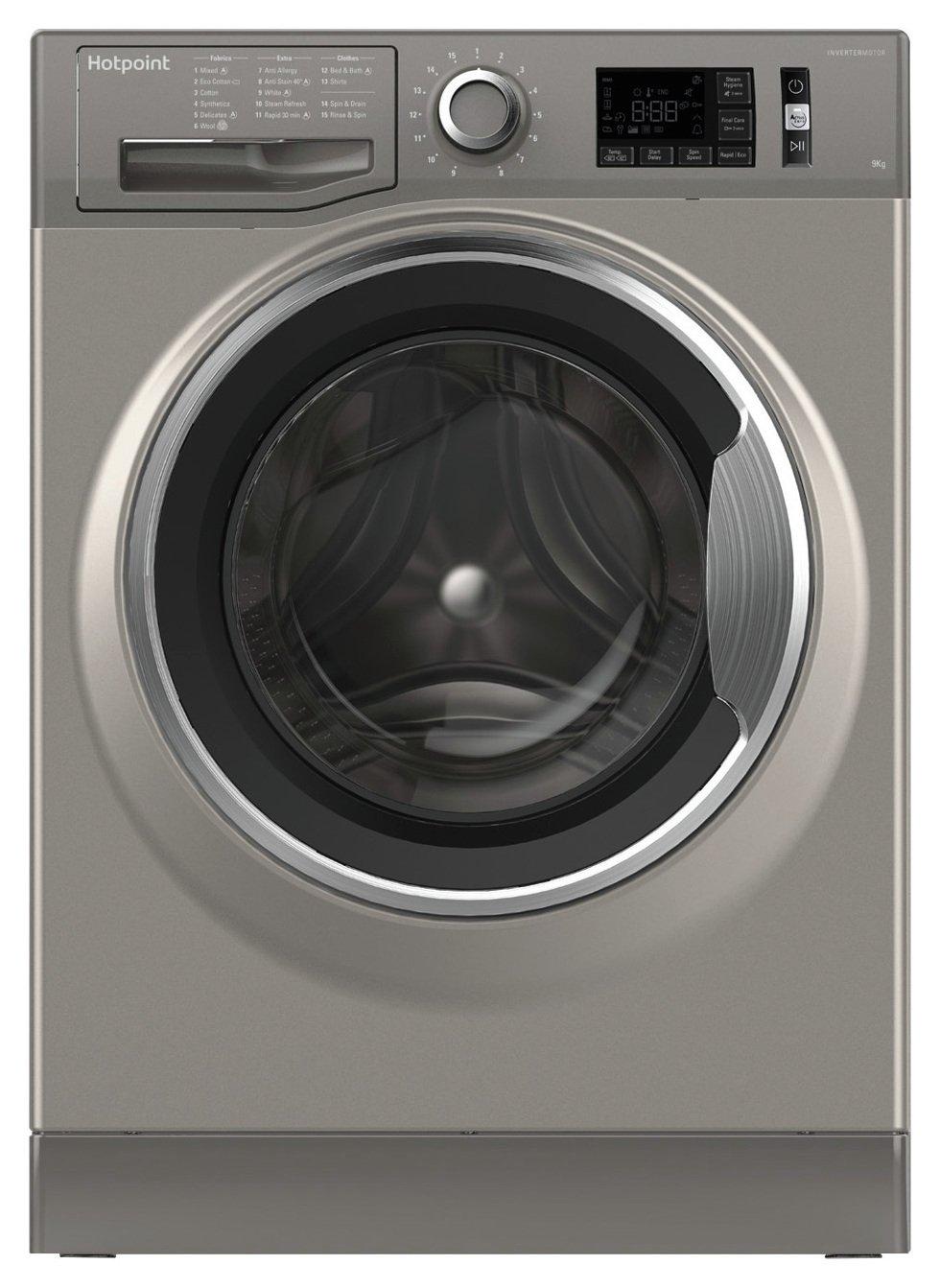 Hotpoint NM11946GCA 9KG 1400 Spin Washing Machine - Graphite