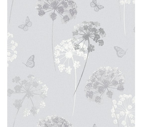 Arthouse Kitty Grey Wallpaper