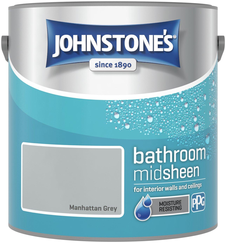 Johnstone's Kitchen & Bathroom Paint 2.5L - Manhatten Grey