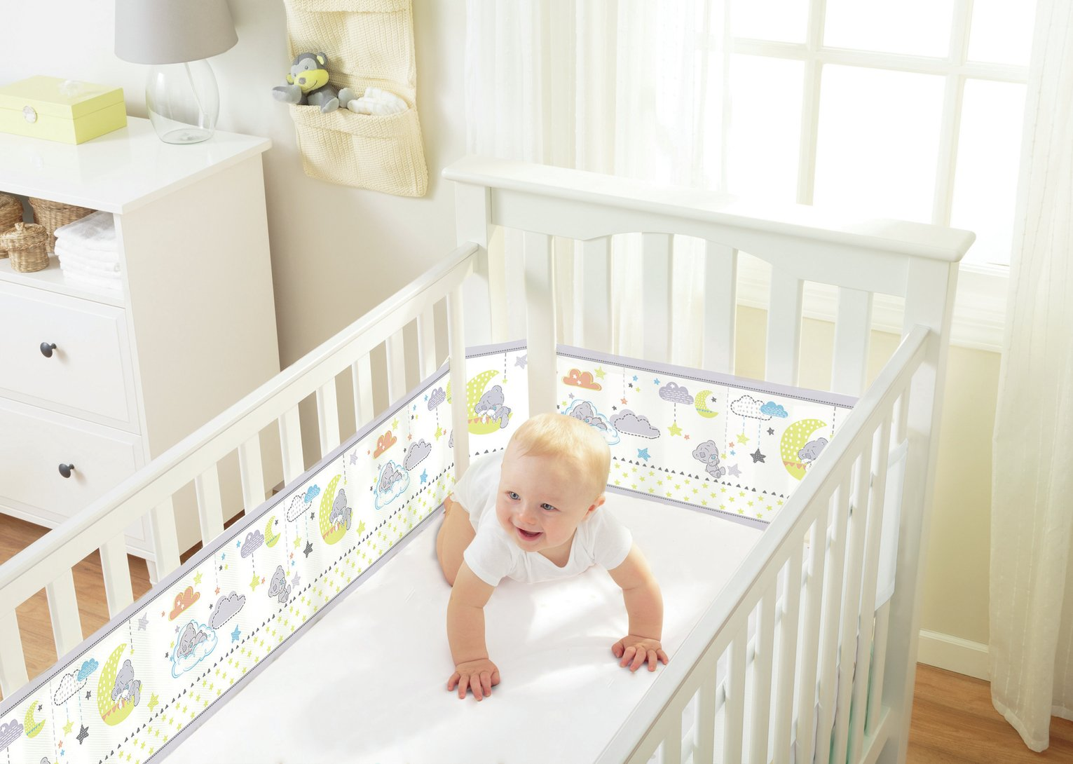 BreathableBaby 4 Sided Tatty Teddy Cot Liner