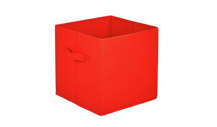 Argos Home Pack of 4 Red Canvas Boxes