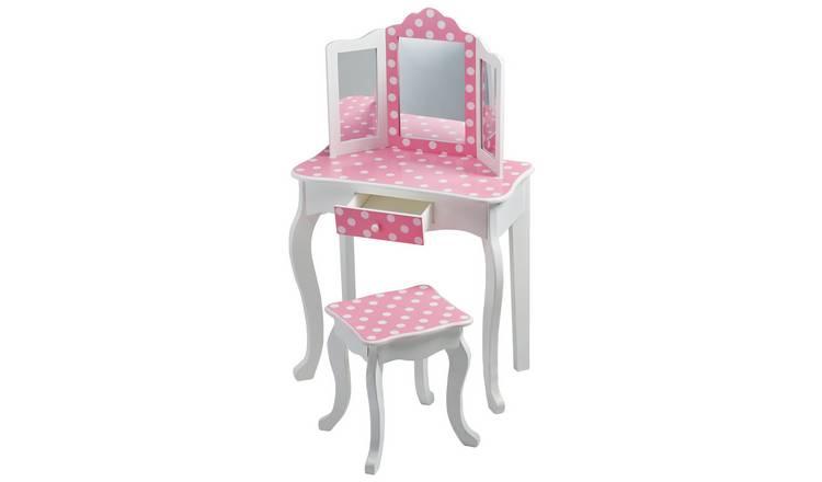 size 40 dd629 ad19b Buy Teamson Kids Gisele Polka Dot Vanity Table & Stool | Kids dressing  tables | Argos