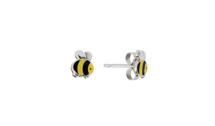 Revere Sterling Silver Bumble Bee Stud Earrings