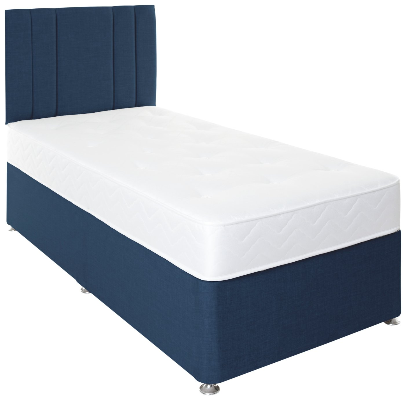 Airpsrung Henlow 1200 Pocket Divan Bed & Headboard - Blue at Argos