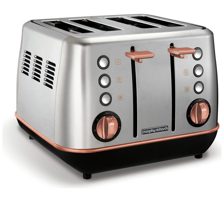 Morphy Richards 240116 Evoke 4 Slice Toaster - S/Steel